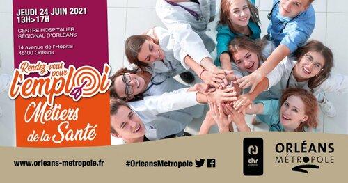 Préoccupation majeure du territoire métropolitain et des professionnels du secteur, la santé sera le thème des prochains «Rendez-vous pour l'emploi», le 24 juin, de 13h à 17h, sur le site du CHR d'Orléans. Précisions.